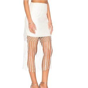 Tularosa X Revolve Barcelona Fringe Skirt